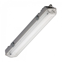 PLAFONIERA Vuota IP65 a Soffitto per Tubi LED T8 in PVC