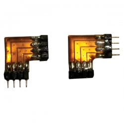 SET 2 RACCORDI Maschio/Femmina 90diam X Strip LED Connettore
